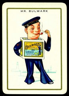 """Cigarette Advertisment Card - Mr Bulwark Will's Cigarettes """"Happy Families"""" advertisment card (set of 32 issued in 1939)"""