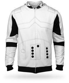 I want this. Stormtrooper Costume Hoodie :: ThinkGeek