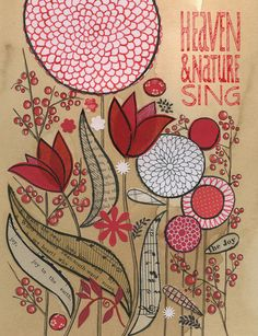 Heaven and nature sing.goes with my travel theme/back to nature theme Susan Black, Cactus Planta, Flower Doodles, Happy Art, Art Journal Inspiration, Design Inspiration, Botanical Art, Collage Art, Simple Collage