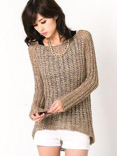 Splattered Knit Sweater $39.80