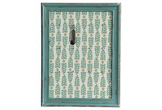 Wall Plaque w/ Metal Hooks great for jewelry, keys, etc. Love that color!
