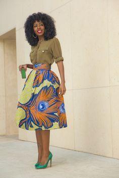 Inspiration - Jupe Stella Jean par Folake Style Pantry ~African fashion, Ankara, kitenge, African women dresses, African prints, African men's fashion, Nigerian style, Ghanaian fashion ~DKK