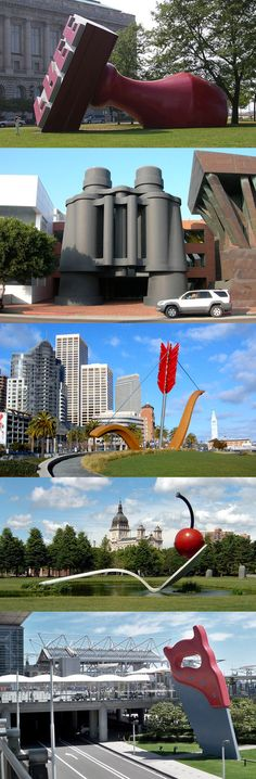 Claes Oldenburg sculptures