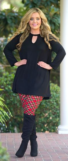 Holiday Happenings Top - Black - Perfectly Priscilla Boutique