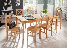 Home affaire Essgruppe , beige, FSC-Zertifikat, Outdoor Furniture Sets, Outdoor Decor, Dining Table, Beige, Home Decor, Products, Country Dresses, Sofa Set, Cottage Chic