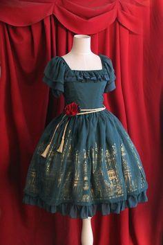 Infanta Roses Churches Lolita OP Dress  #lolitadress #lolita #dress