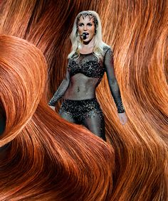 Weave through a history of A-List celebs and their luscious locks of (fake) hair. Pictured: Britney Spears suffered a hair malfunction in front of 4,500 fans during a Las Vegas concert when a clump of blond extensions fell from her head and became attached to her black bodysuit.