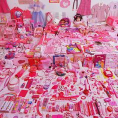 The Pink and Blue Project by JeongMee Yoon.  Photographs of children with their things organized neatly.