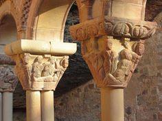 Capiteles del Maestro de Agüero - Claustro del Monasterio de San Juan de la Peña, provincia de Huesca