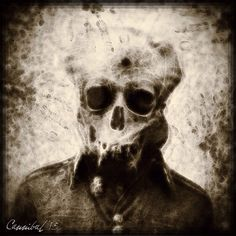 Eerie antique, manipulated; via Instagram. Chronic Conditions.