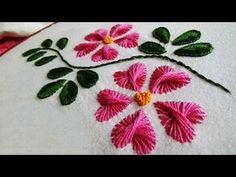 Hand Embroidery: Butterfly stitch - YouTube