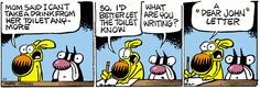 Mother Goose and Grimm By Mike Peters. Mother Goose And Grimm, Dear John, Funny Comics, Comic Strips, Laugh Out Loud, Laughter, Lettering, Writing, Humor