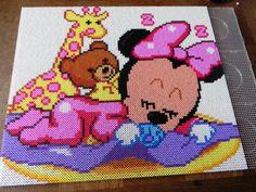 Baby Minnie portrait hama perler beads by swarovski