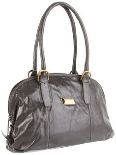 $119.27-$179.00 7414CLY Color: Clay  Features: -Constructed of 100pct leather. -Decorative hardware and belting detail. -Coin keeper on front of bag for easy storage of coins. -Open back pocket for cell phone or keys. -Top zippered access to interior. -Front wall interior organizer with cell phone pocket. -Four credit card slots and two pen / pencil holders. -Colorful fabric lined interior. -Dimen ...
