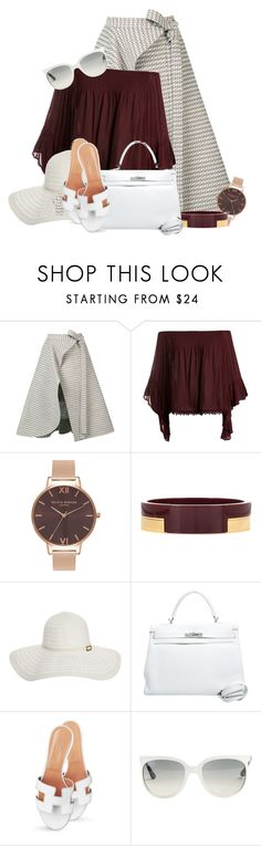 """""""Hermès - Bag & Shoes II"""" by colierollers ❤ liked on Polyvore featuring Adeam, Sans Souci, Olivia Burton, Marni, Melissa Odabash, Hermès and Ray-Ban"""