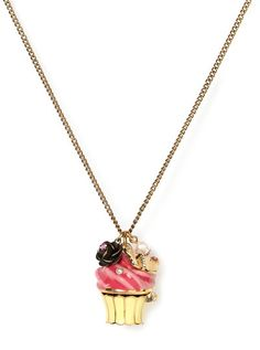 Cupcake necklace by Betsey Johnson