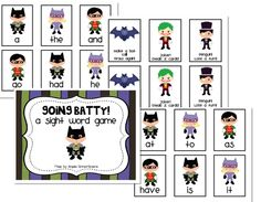 """""""Going Batty"""" Sight Word Game! Teaching Reading, Fun Learning, Reading Help, Student Teaching, Teaching Kids, Reading Groups, Early Learning, Sight Word Practice, Sight Word Games"""