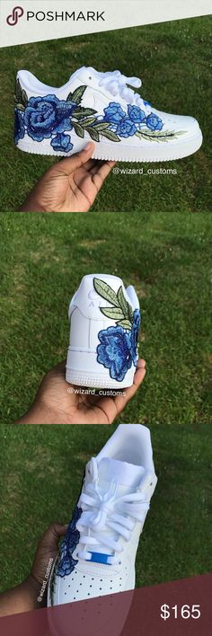 Custom AF1's Blucci These are custom sneakers They come in sizes ((8-12)) Nike Shoes Sneakers