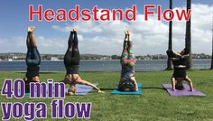40 Minute Yoga Class - Headstand Flow - YouTube