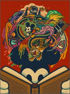 'Storybook Mickey' by Dave Quiggle for Disney's WonderGround Gallery