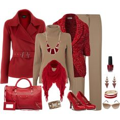 """""""Untitled #6"""" by tufootballmom on Polyvore Red is my favorite color"""
