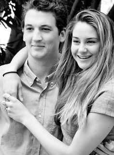 Shailene Woodley and Miles Teller. i love how their actually doing something with their life and i'm just here, at home..... looking up pictures of them.....