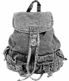 Classic Women's Denim Backpack / Rucksack Shoulder Lace School Bag #vintagebackpack #backpack #denim backpack