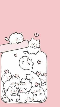 Chaton chibi cute dans un bocal. #CatDibujo #CatIllustration