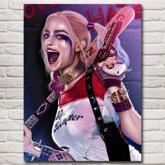 Harley Quinn Comics Art Silk Fabric Poster Prints Home Wall Decor Margot Robbie Harley Quinn, Harley Quinn Comic, Daddys Lil Monster, Batman Arkham City, Catwoman, Silk Fabric, Comic Art, Pop Culture, Girls
