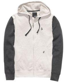 Volcom Hoodie, Slapdit Slim Zip Front - Mens Hoodies & Track Jackets