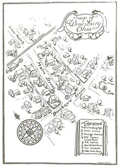 Map of Winesburg, Ohio by Sherwood Anderson