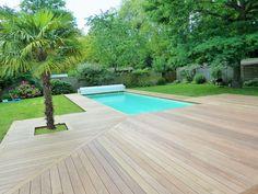 Terrasse En Bois Yvelines Lames Ipe Extra Larges Surface M - Pose terrasse bois autour piscine