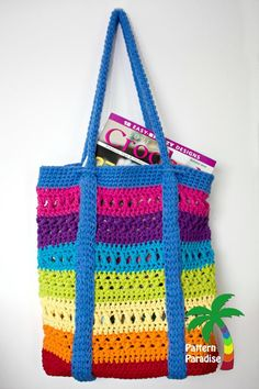 X Stitch Market Bag | AllFreeCrochet.com