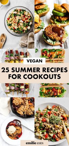 From vegan BBQ recipes to homemade veggie burgers, these 20 vegan summer recipes have you covered for all your picnics, barbecues & cookouts Cookout Side Dishes, Vegan Side Dishes, Side Dish Recipes, Easy Dinner Recipes, Vegan Bbq Recipes, Healthy Salad Recipes, Pork Recipes, Vegetable Kebabs, Veggie Tray