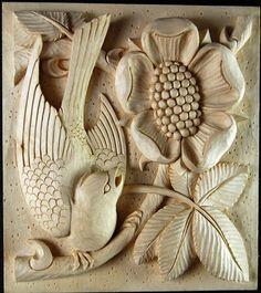 Relief chris pye master carver koka wood art wooden art y