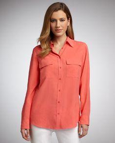 T4E05 Go Silk Silk Safari Blouse, Women's