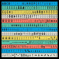 Portfolio of Elena Schneider typeface and logo designer