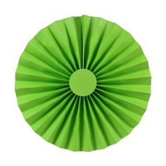 10-inch Kiwi Green Paper Rosettes, 2-pack (($))