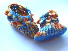 Baby Boy Christening Shoes Booties Girl Boots by knittingstyle, $34.00