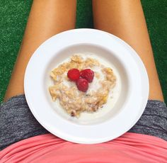 Raw apple pie oatmeal  its so delicious and better than cereal for breakfast.