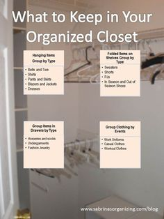 Getting organized can help make life easier. Use this guide to help you create more space by organizing your closet!