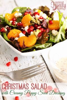 The dressing for this Christmas salad is divine! Must make for Christmas!