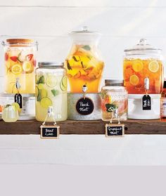 Beverage table ideas perfect for lemonade, punch and sangria