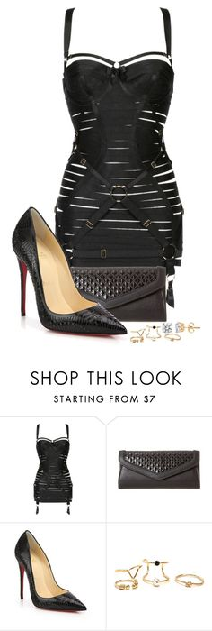 """""""Untitled #209"""" by ahmonie on Polyvore featuring Bordelle and Christian Louboutin"""