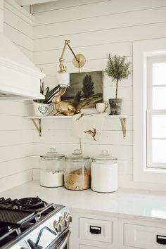 Shelf Styling Basics Balance Kitchens Home Decor House Design Interior Design Basics, Marble Shelf, Regal Design, Small Shelves, Shelf Design, Farmhouse Style, Farmhouse Rugs, Farmhouse Kitchens, White Kitchens