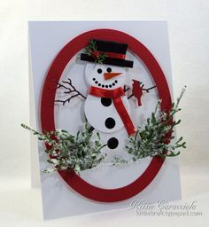 Christmas Snowman FS513 by kittie747 at Splitcoaststampers