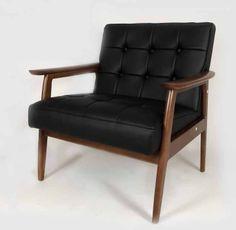 Black Lounge Arm Chair