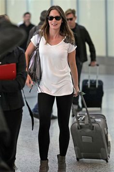 Emily Blunt's airport style