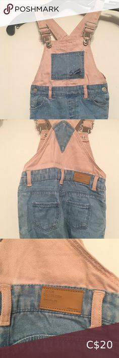 Zara Overalls Zara baby overalls Light jean and light pink Adjustable straps on shoulders 12-18 months Zara One Pieces