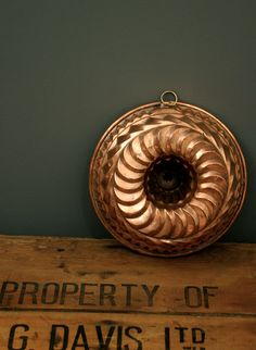 European Copper Bunt Mold Circa 1920's by FBvintage on Etsy, $75.00